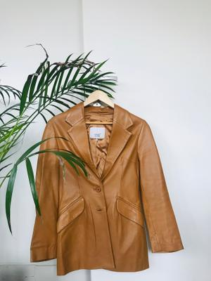 Kyuso Vintage Leather Blazer