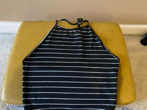 Low Back Stripped Crop Giveaway