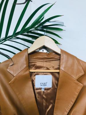 Kyuso Vintage Leather Blazer