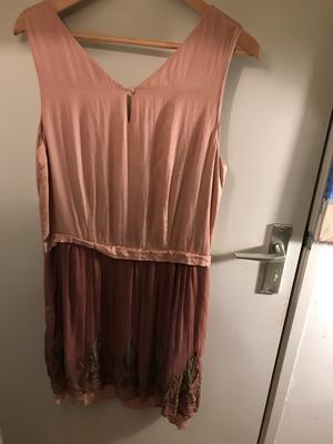 20s Nude Silky Dress