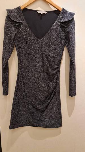 Sparkly silver long sleeve dress 🌟