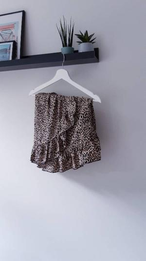Ruffled panter skirt