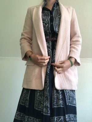 Soft Pink boy friend blazer Zara