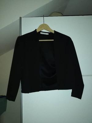 Zwarte driekwart blazer