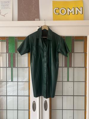 Green Leather like dress