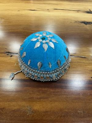 Traditional Hat - Blue & Silver