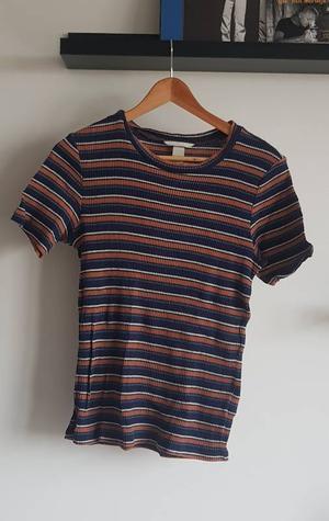 Striped t-shirt blue and orange