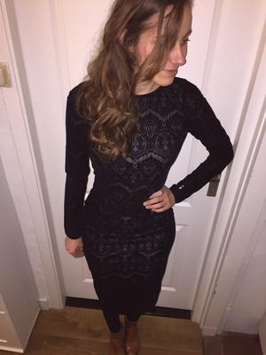Zwarte velvet lace jurk Supertrash (ST studio)