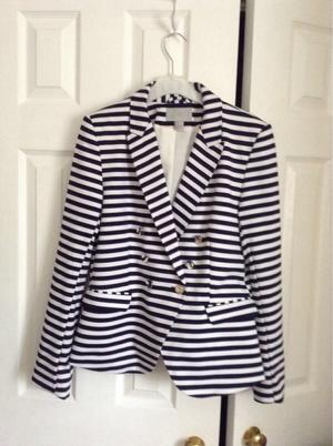 Blue and white blazer by H&M
