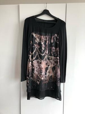 Expresso dress with chandelier print