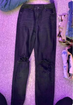 black ae jeans
