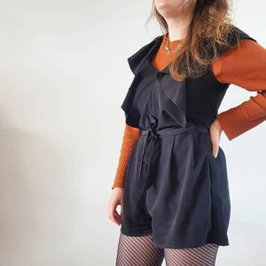 Playsuit black ruffles