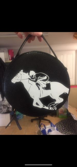 Giddy up black and white bag