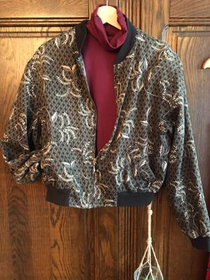 80's jacket with brown print