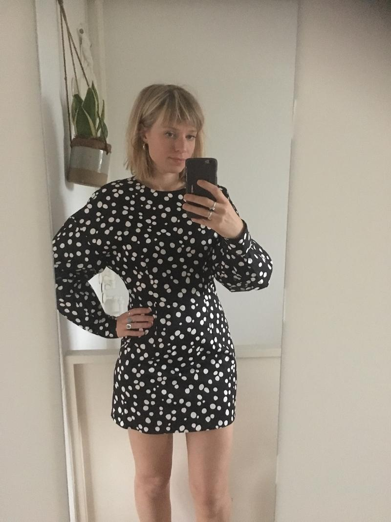 60s Style Puff Sleeve Dress