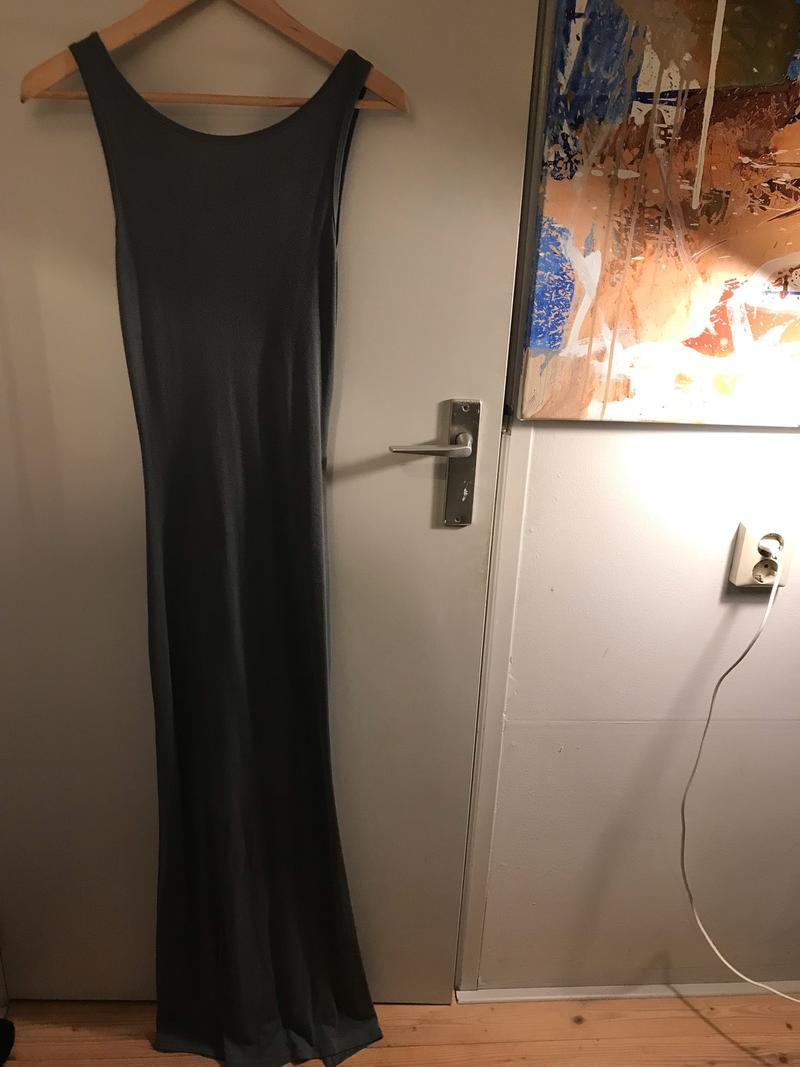 Dark Grey Dress With Slit