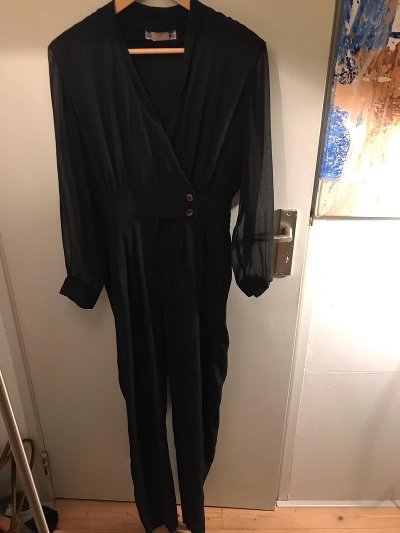 Black 80s Jumpsuit