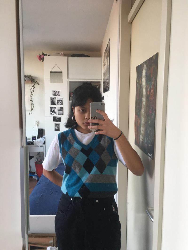 Blue/Gray sweater top