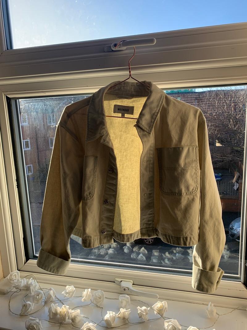 Light Blue Cropped Jacket