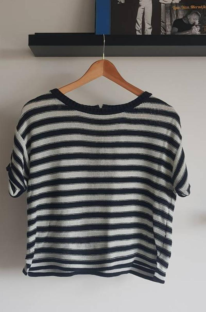 Knitted crop top stripes