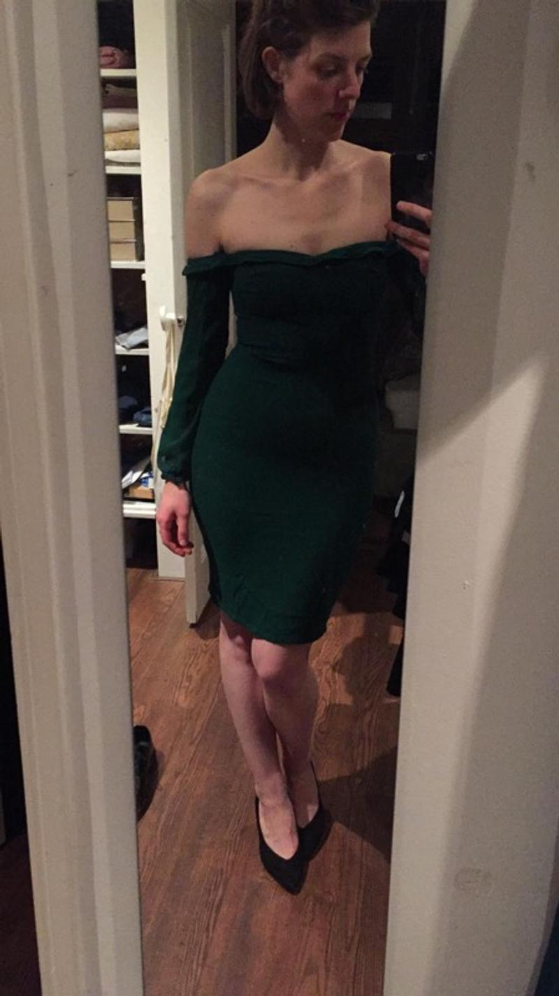 Reformation green dress