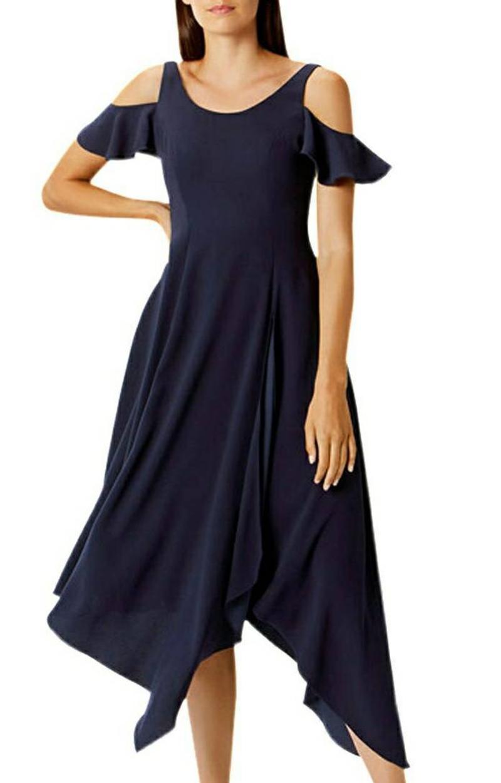 Coast cold shoulder dress, Navy