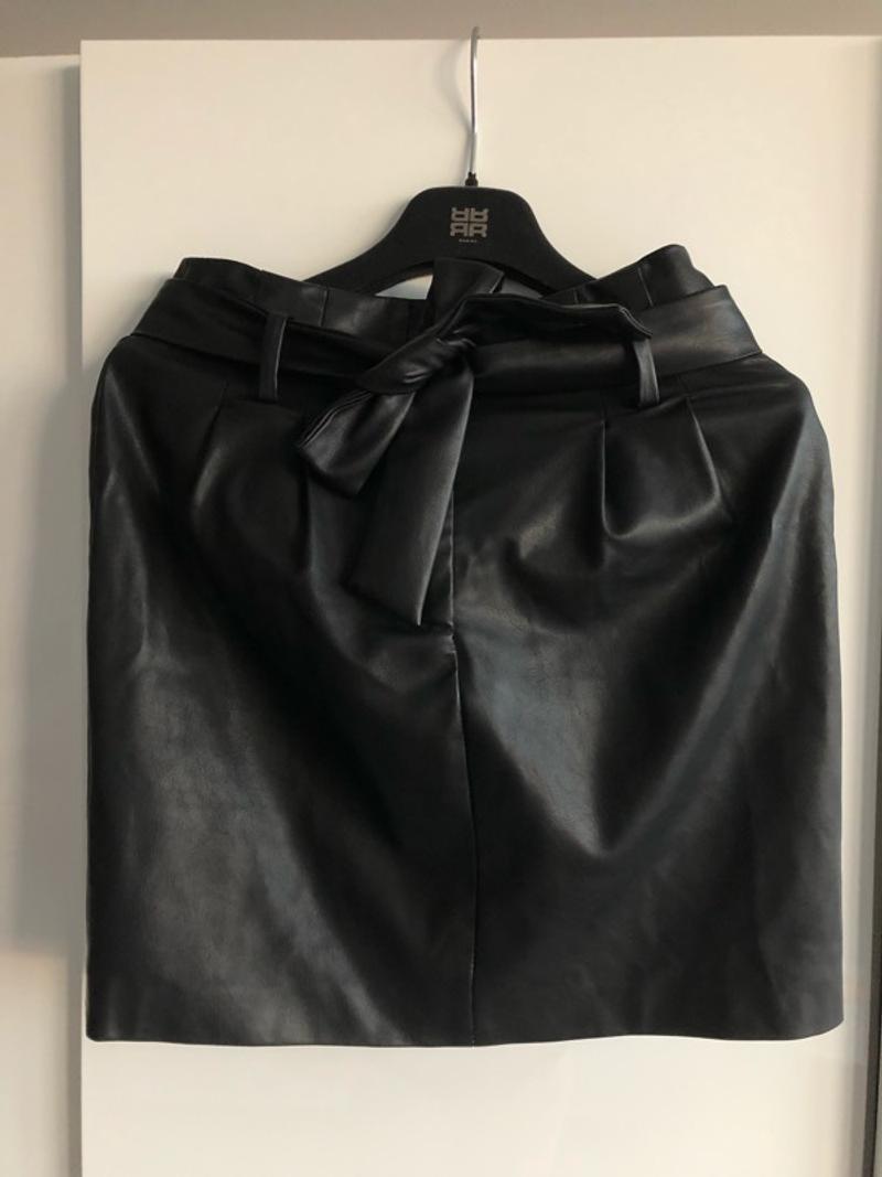 Art Du Basic faux leather mini skirt