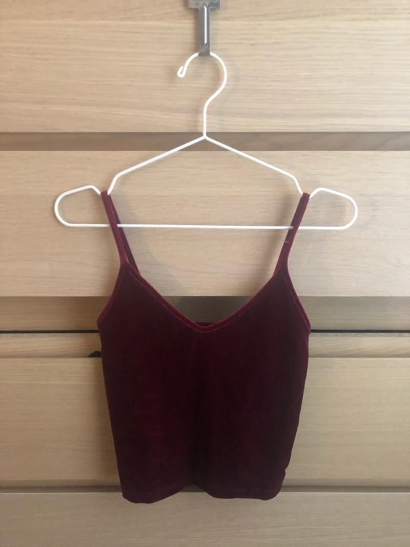 Velvet red top