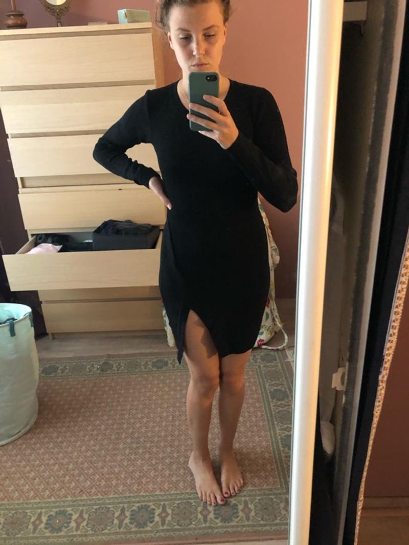 Wool black dress