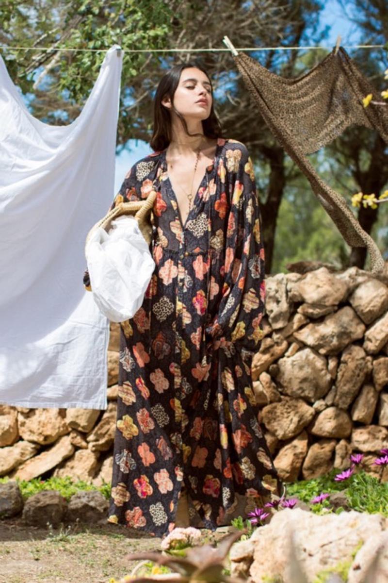 Maxidress multicolor S-M Isla Ibiza