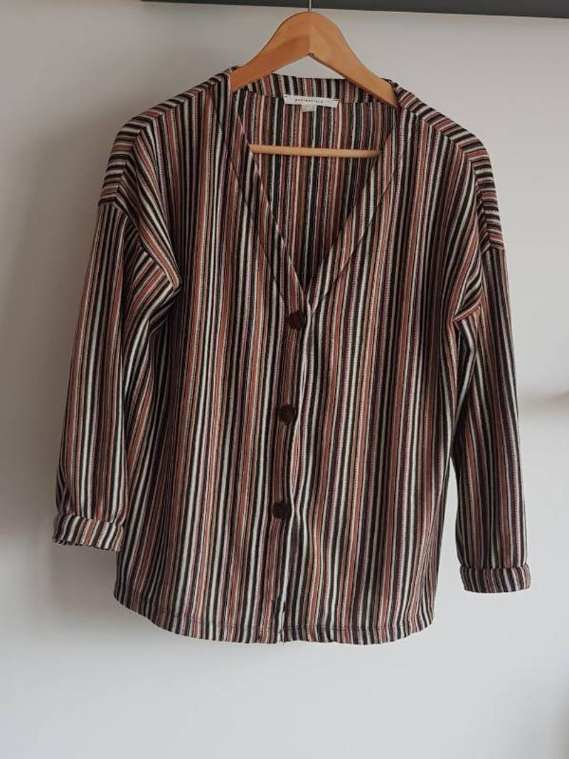 Multicolor cardigan vest