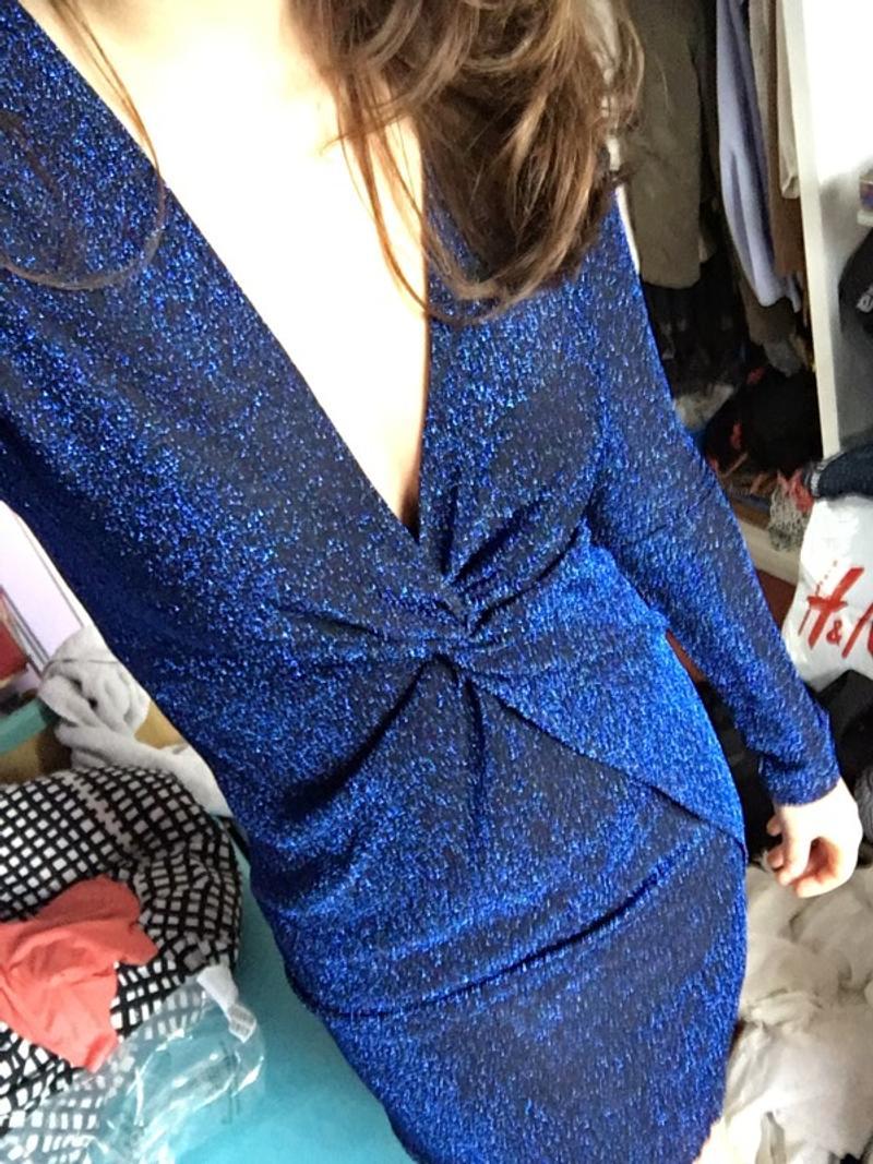 Glamour dress dark blue