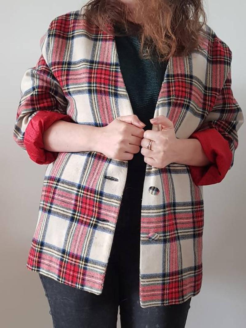 Vintage checkered jacket