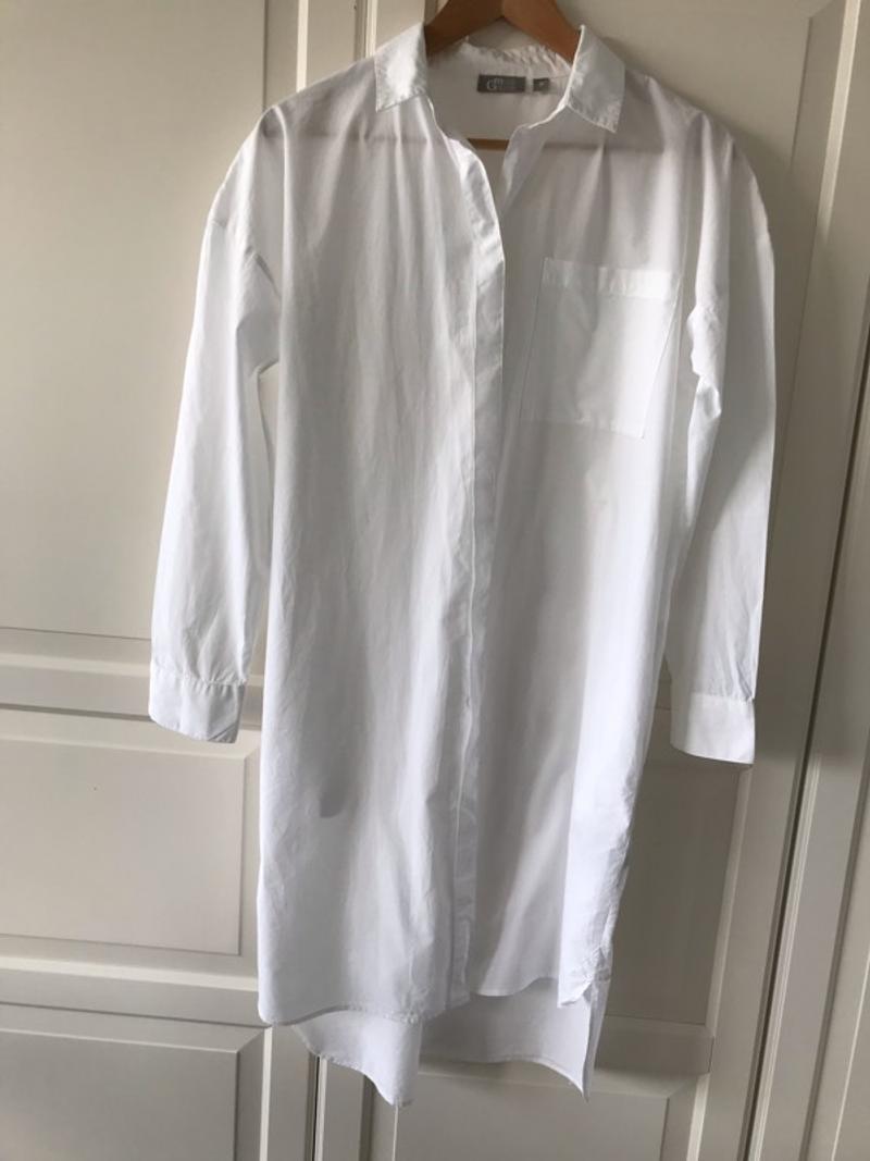 Miss green lange witte blouse maat s